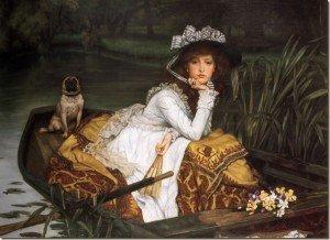 JamesTissot jeune fille dans une barque