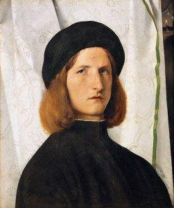 Lotto lorenzo Portrait de jeune homme à la lampe 1508