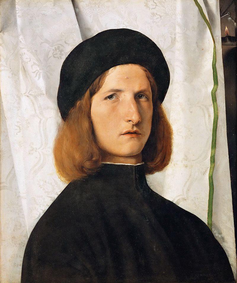 Lotto lorenzo Portrait de jeune homme à la lampe 1508 b790e7859b8