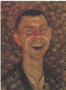 Gerstl autoportrait riant 1907