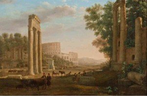 Claude Lorrain -ruins-of-the-roman-forum