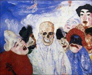 James Ensor La mort et les masques
