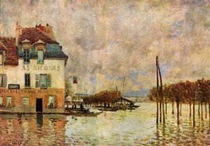 -Alfred_Sisley, inondation à Port Marly