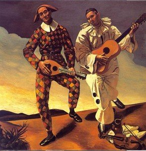Harlequin-and-Pierrot--1924--Andre-Derain