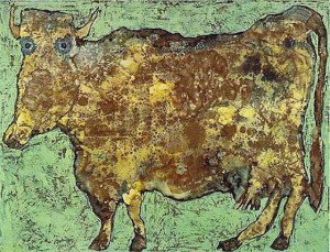 Jean-Philippe-Arthur-Dubuffet-The-Cow-With-The-Subtle-Nose